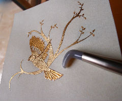 feuille d`or enluminure calligraphie stage cours